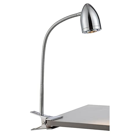 Lite source niko led clip on gooseneck desk lamp