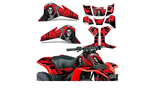 Suzuki LT80 87-06 Graphic Kit ATV Decals Sticker Wrap Quadsport LT 80 REAPER YELLOW