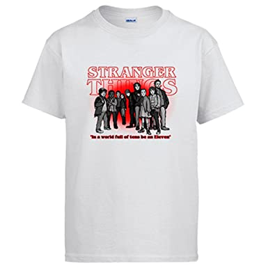 Camiseta Stranger Things In A World Full of Tens Be An Eleven: Amazon.es: Ropa y accesorios
