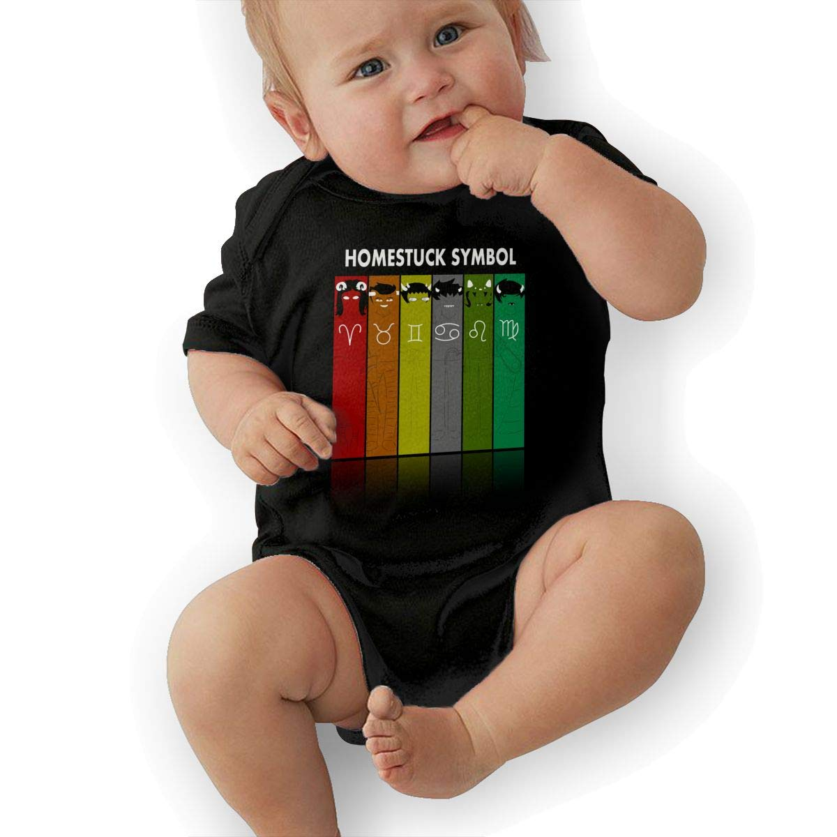 LuckyTagy Homestuck Symbol Unisex Fashion Infant Romper Baby BoyPlaysuit Black