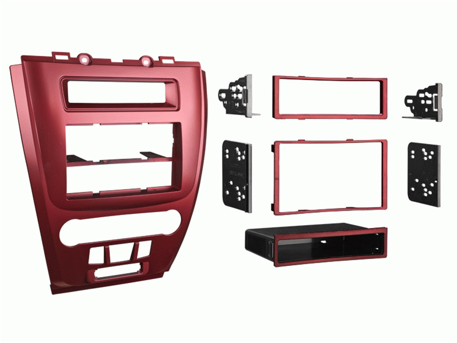 Metra 99-5821S Single or Double DIN Installation Dash Kit for 2010 Ford Fusion and Mercury Milan, Silver Metra Electronics Corporation