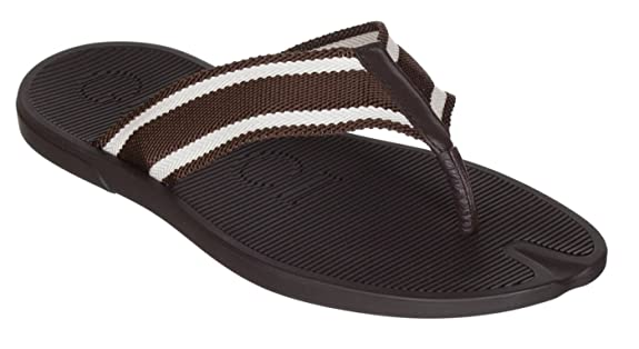 Gucci Men's Brown Rubber Flip Flop Thong Sandals Shoes, Brown, US 12 11
