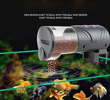 CWSPN Tanque de Acuario Automático Fish Food Feeder Timer Acuático Pet Goldfish Alimentación Dispensador Alimentado por batería Ajustable Auto Feeder ...