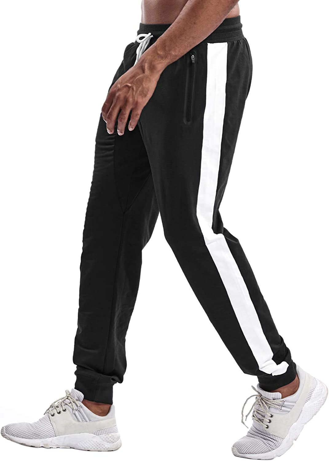 Amazon.com: TBMPOY Men's Athletic Running Pants Joggers Workout Sweatpants  with Zipper Pockets: Clothing