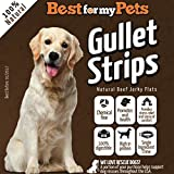 Best For My Pets 5-Inch Bully Jerky Gullet Strips - 100% Pure Beef USDA/FDA-approved Natural Dog Treats - Protein Source by (6-ounce)