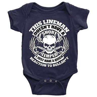 Amazon com: This Lineman Baby Bodysuit, Lineman Power Baby