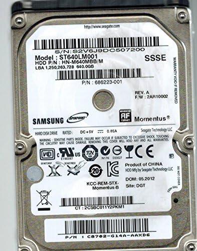 C8702-G14A-AAXD6 Samsung ST640LM001 HN-M640MBB//M 640GB Seagate P//N