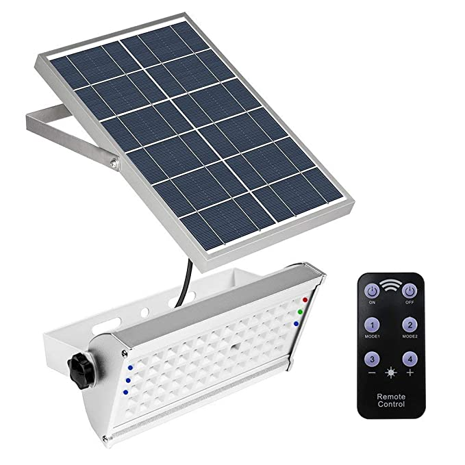 65LED 1500LM solar Motion Sensor luz luces de seguridad IP65 impermeable 2 modos Super brillante de acero inoxidable energía luces para valla publicitaria, ...