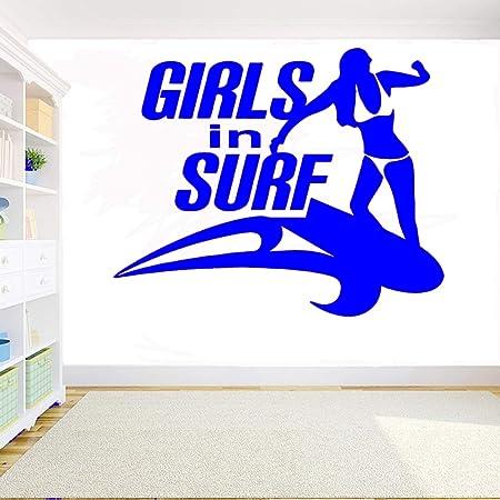 yaoxingfu Girl In Surf Tatuajes de Pared Habitación para niñas ...