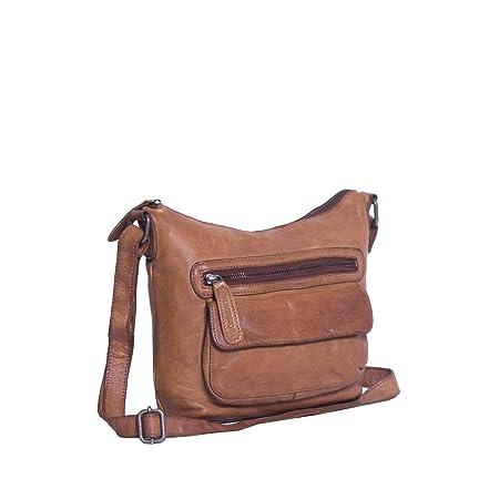 77c963bed61e9 Chesterfield Leather Shoulder Bag Cognac Aliz  Amazon.co.uk  Luggage
