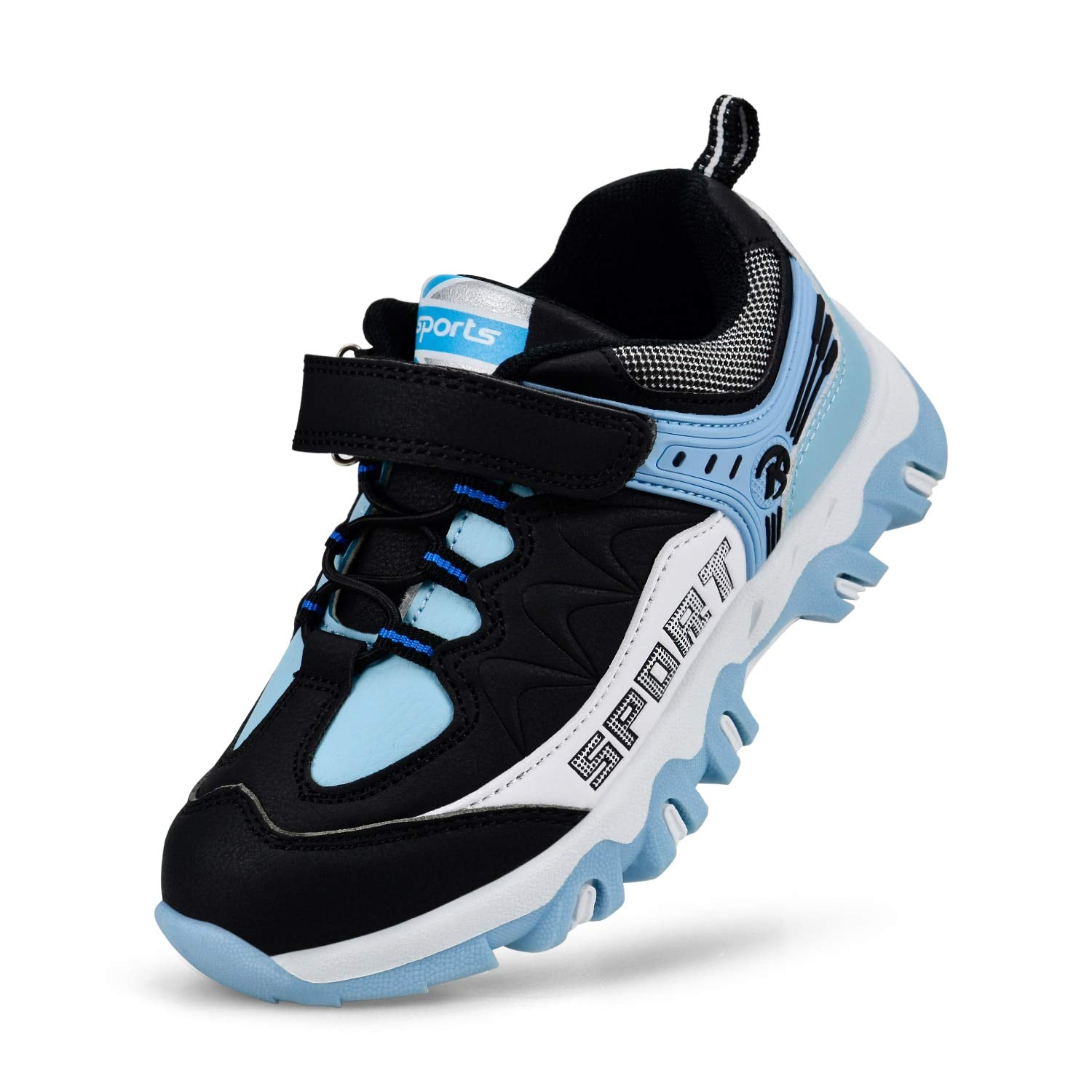 Simasoo Outdoor Girls Boys Breathable Shoes Comfortable Athletic Running Sneakers BlueWhite/Black 3.5 M US Big Kid