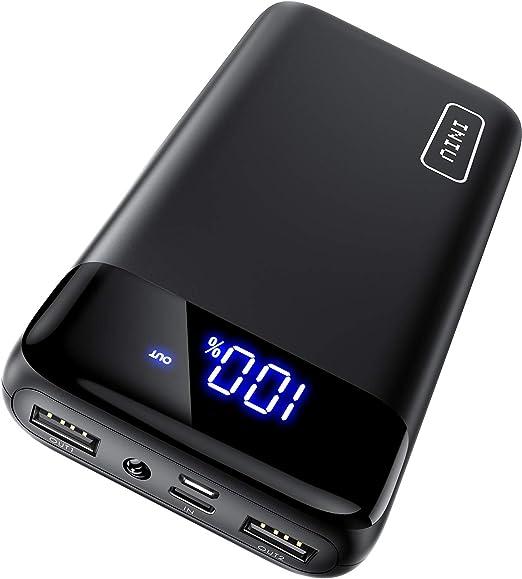 Amazon.com: INIU Cargador portátil, pantalla LED 20000mAh ...