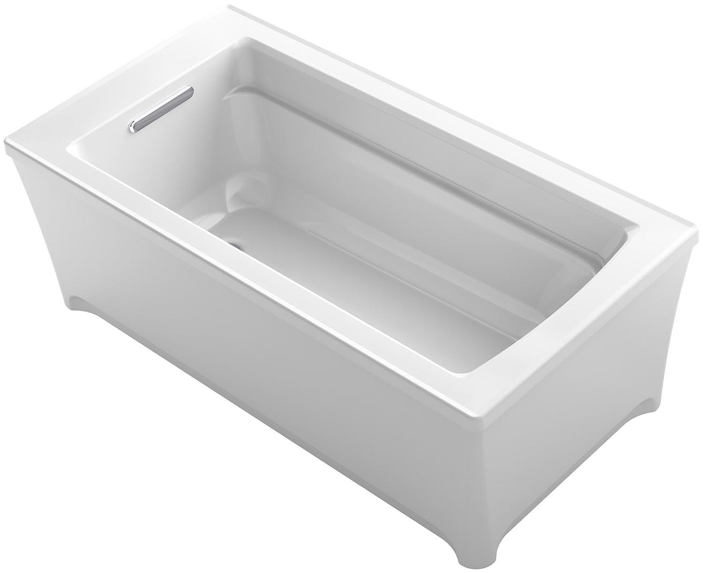 KOHLER K-2592-0 Archer 62 In. x 32 In. Freestanding Bath, White