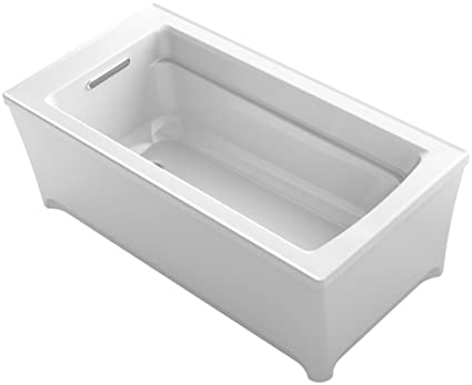 KOHLER K-2592-0 Archer 62 In. x 32 In. Freestanding Bath, White ...