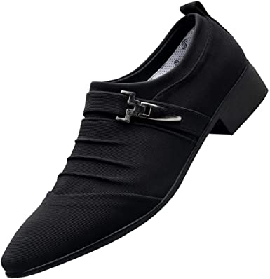 Men British Dress Pointed Toe Shoes Casual Lace Up Formal Oxfords Shoes Fashion