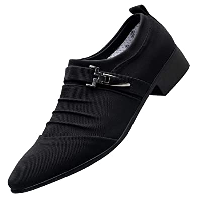 2ab263f417 Fashion Leather Formal Shoes,Men's Leather-Lined Lightweight Shoes,Men  Casual Shoes Pointed
