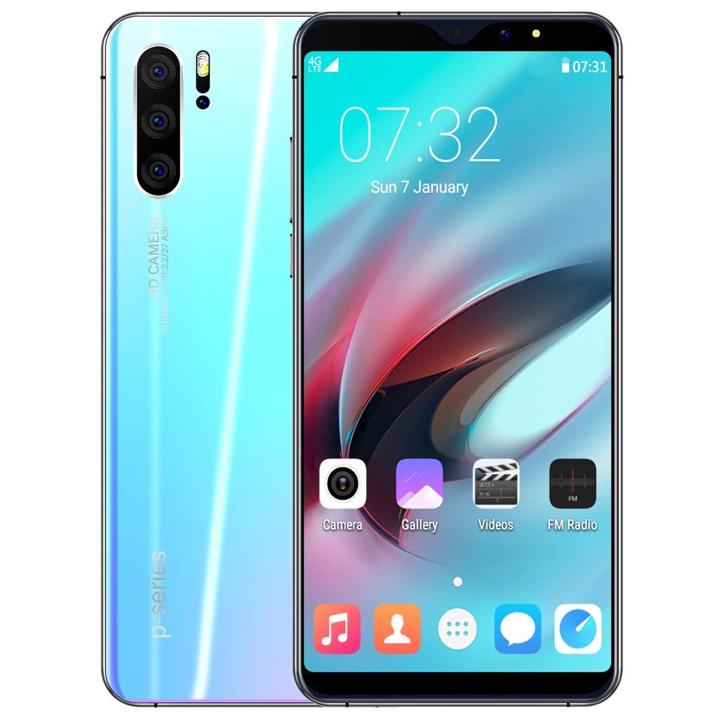 Sodoop P31 Pro Smartphone (2019 New), 6.3 inch Full Screen Unlocked for Android GSM 3G Dual-SIM 1G RAM+16GB ROM Extended Memory to 64G,Eight Core 1600w Camera (Blue)