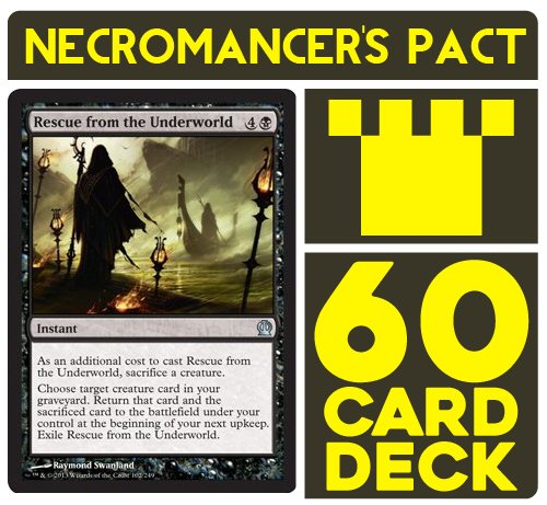 Necromancer's Pact Battle Deck. Magic the Gathering Preconstructed Deck. 60 cards. (Mtg Extract From Darkness compare prices)