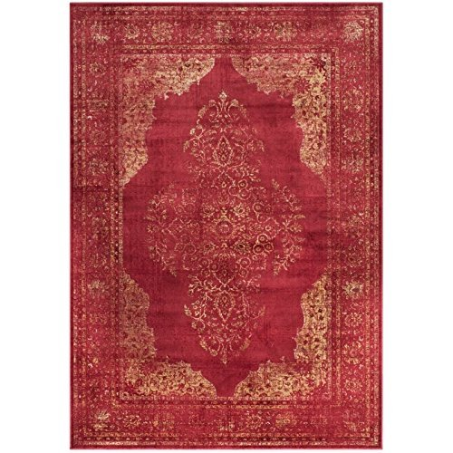 Safavieh Vintage Premium Collection VTG122-6220 Transitional Oriental Rose Distressed Silky Viscose Area Rug (2' x 3')