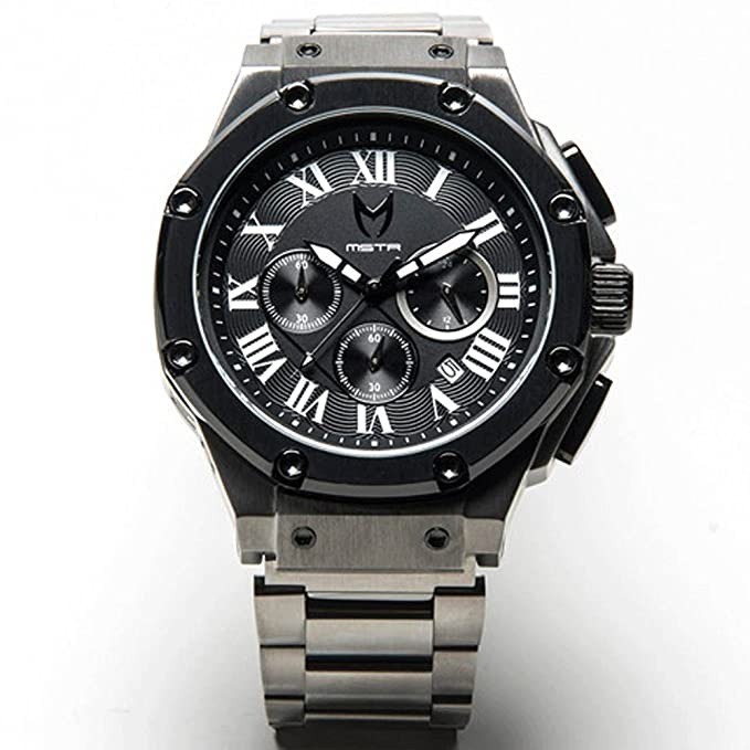Meister Watches / MSTR Watches Men's Ambassador Watch | AM127SS | Gunmetal & Black | Stainless-Steel Case And Leather Band