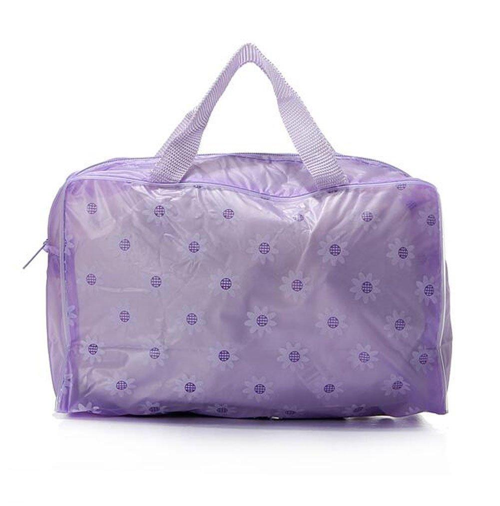 Imprimé floral 3pcs étanche Transparent Voyage Bain Trousse de toilette maquillage Pochette de rangement Sac à fermeture Éclair de toilette Package Coque Organiseur de sac