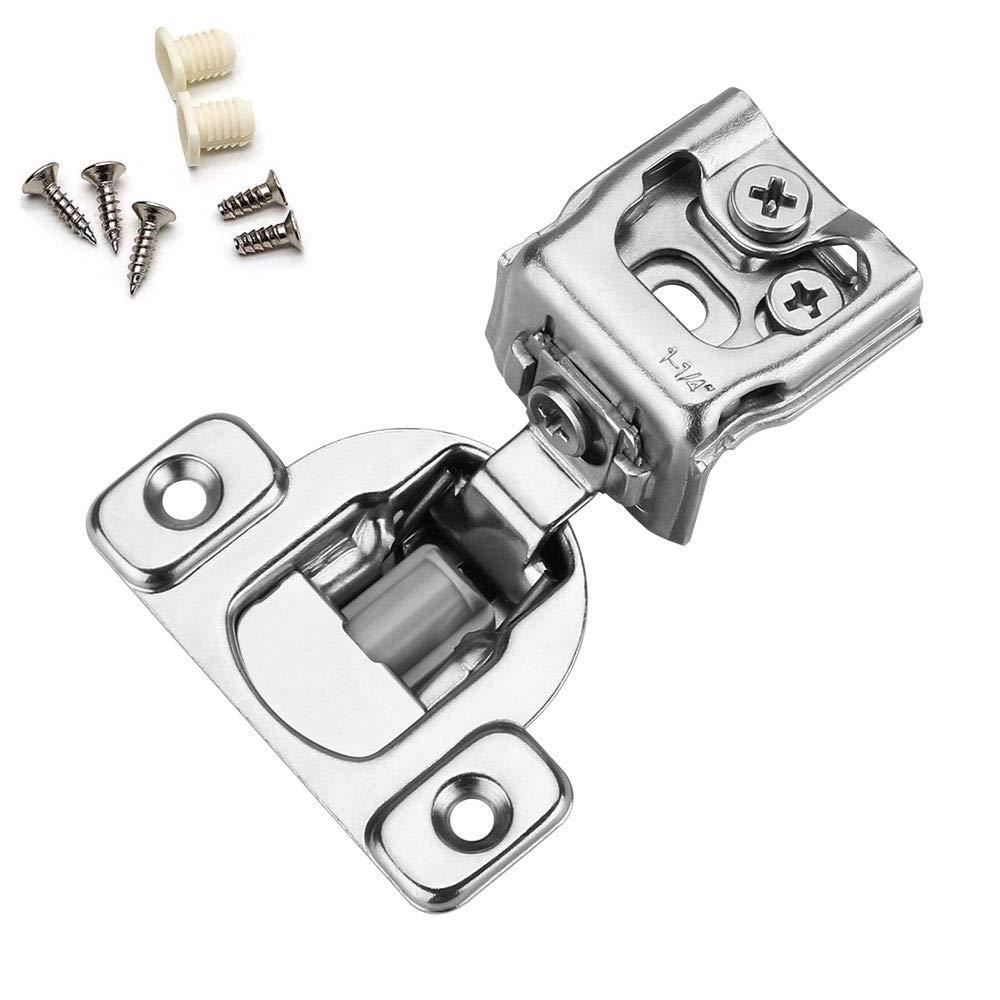 Homdiy 30 Pack Face Frame Concealed Cabinet Hinges 1 1 4 Cabinet Hardware Overlay Soft Close Hinge For Kitchen Cabinets Adjustment Cabinet Door Hinges Hdsch114snb Amazon In Home Improvement