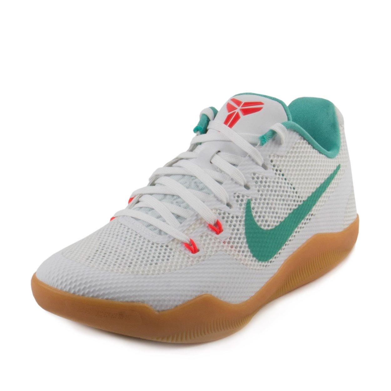 Nike Mens Kobe XI Summer Pack White/Washed Teal Leather Size 9.5