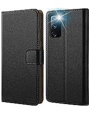 HOOMIL Samsung S20 FE fodral, för Samsung S20 FE 5G fodral, läder serie flip plånbok telefonfodral för Samsung Galaxy S20 FE fodral – svart