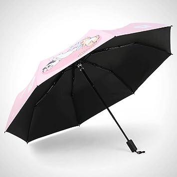 GAOLILI Paraguas, plegable, estudiante, joven, fresco, sol, paraguas, protector solar, creativo, paraguas, lindo: Amazon.es: Hogar
