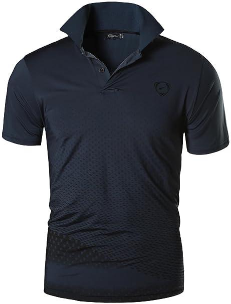 jeansian Hombre Moda Playeras Deportivas Manga Corta Camiseta Tees Mens  Casual Quick Dry Short Sleeved Polo 983a61a4f347f