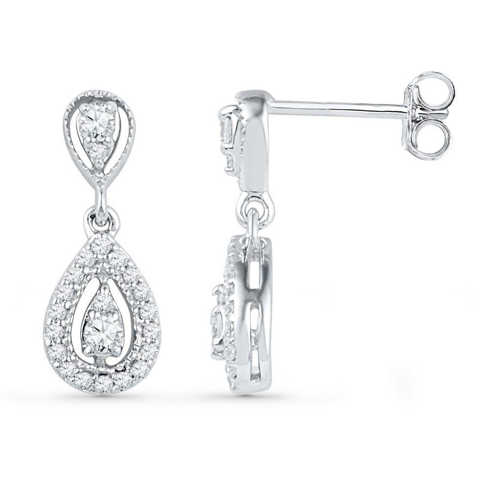 1/3 Total Carat Weight DIAMOND FASHION EARRING by Jawa Fashion (Image #1)