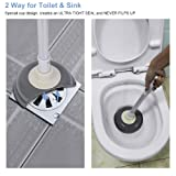 E-Gtong Toilet Plunger with Holder, Toilet Plunger