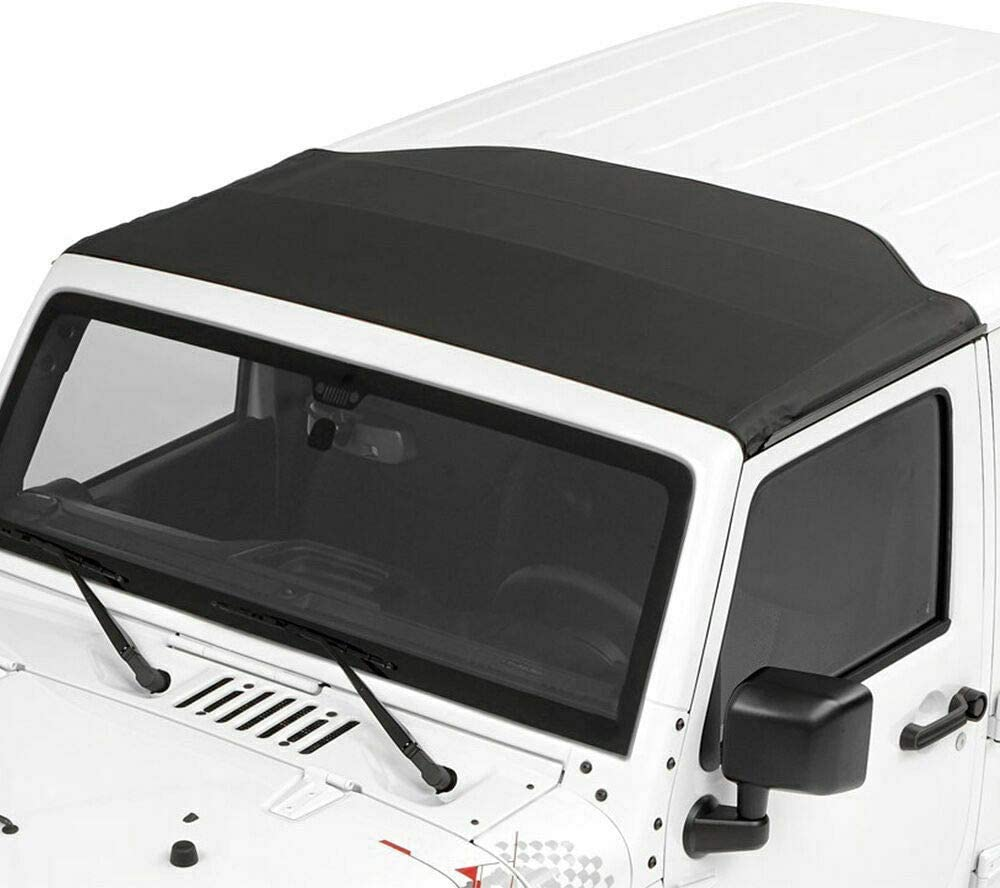 Sunrider for Hardtop Fit 07-17 Jeep Wrangler JK Foldable Water Proof Soft Top