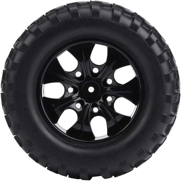 Dilwe 4pcs Pneus de Voiture de Camion rc pneus en Caoutchouc pour 1:10 RC hsp redcat Camion Voiture Hors Route 10 Trous