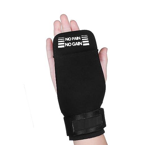 d1282e154be39 Eizur Haltérophilie Paume Grip Gants Crossfit avec Support de Poignet  Protection de gymnastique pour mains et