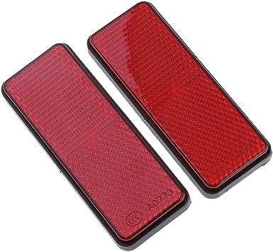 Almencla 2x Rojo Reflector de Advertencia de Seguridad para Auto ...