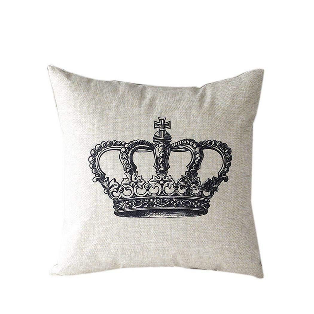 Ankidz Printed Square Pillow Case Cafe Home Decor Sofa Car Cushion Covers Pillowcases