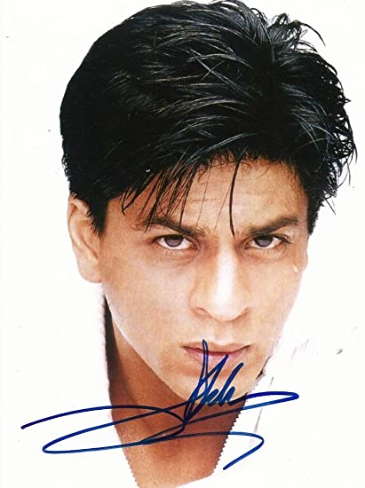 Amazoncom Shah Rukh Khan Actor Autograph In Person Signed Photo