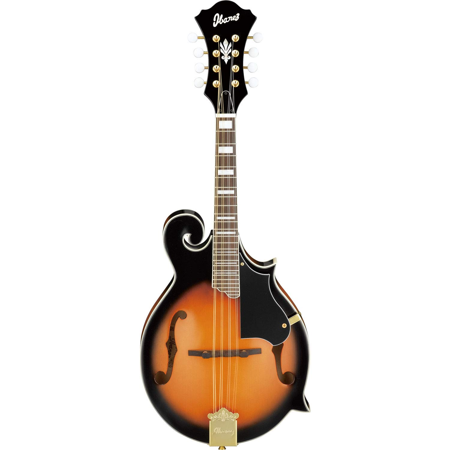 Ibanez 8-String M510EDVS Acoustic Electric A Style Mandolin Tuner and Gig Bag Dark Violin Sunburst with Strings