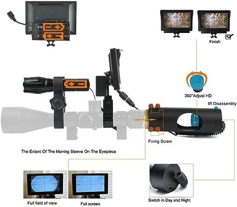 MUJING Alcance Digital de visión Nocturna para la Caza de Rifles ...