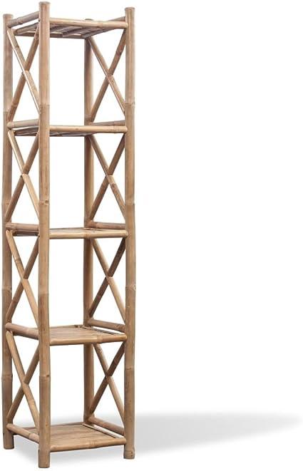 Xingshuoonline - Estantería de 5 Pisos de Madera de bambú ...