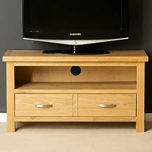 Mueble de TV genérico, Roble Claro, Madera Maciza, Mueble de Roble para TV pequeño, Mueble de TV de Roble en T, Mueble de TV de Roble: Amazon.es: Electrónica