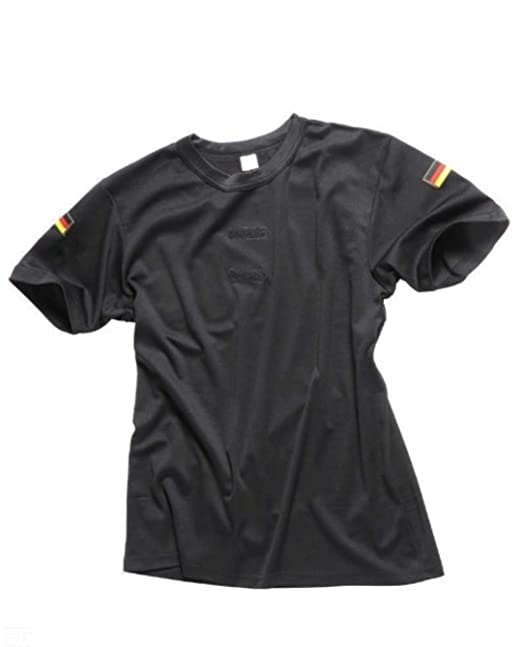 Bundeswehr Tropen T-Shirt mit Deutschlandfahnen und Klettstreifen in,  schwarz, oliv und coyote