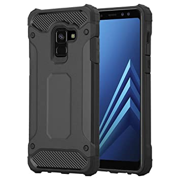 huge selection of 01d59 dce3f For Galaxy A8 Case - Impact Heavy Duty Hard Tough Dual Layer Shockproof  Armour Defender Case for Samsung Galaxy A8 (Black)