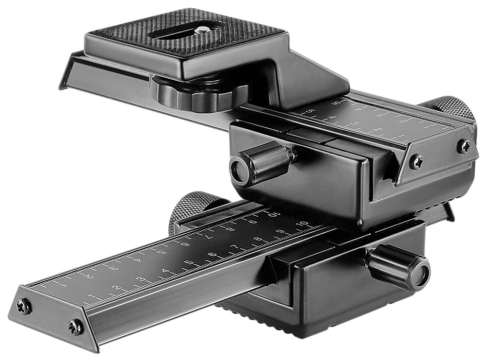 Neewer Pro 4-Way Macro Focusing Focus Rail Slider/Close-Up Shooting for Canon Nikon, Pentax, Olympus, Sony, Samsung and Other Digital SLR Camera and DC with Standard 1/4-Inch Screw Hole by Neewer