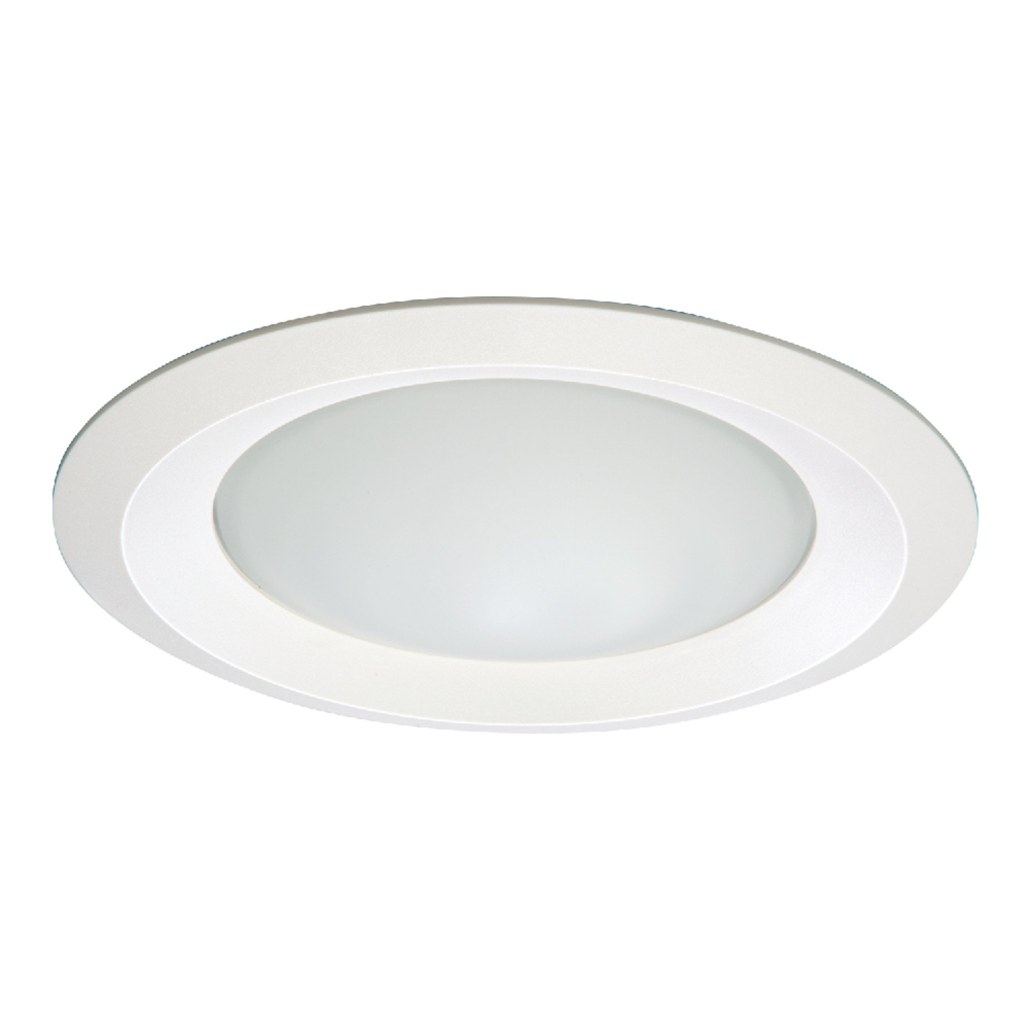 Halo RE-6150WH 6150WH E26 Series Recessed Shower Light with Frosted Glass Lens, 6'', White
