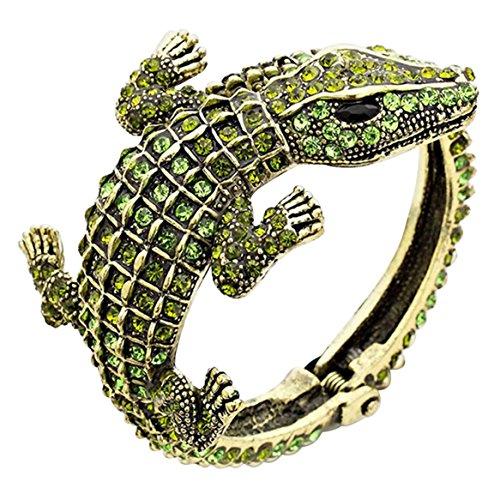 Rosemarie Collections Women's Hinged Pave Alligator Wrap Bangle Bracelet - Macys Colorado