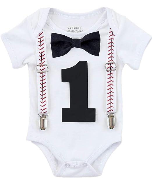 Amazon.com: Del boytique Baby Boy para Primer Cumpleaños de ...