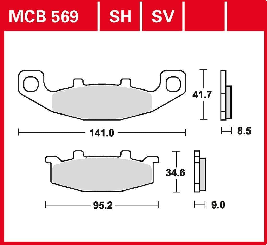 Bremsbelag TRW organischer Allround-Bremsbelag GPX 600 R ZX600C 88-99 hinten