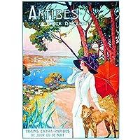 Poster/Cartel Francia Vintage Pub Retro 50x70cm Antibes Cote